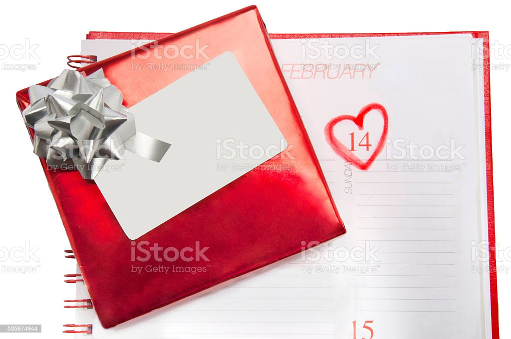 Gift For The Valentine's Day stock photo