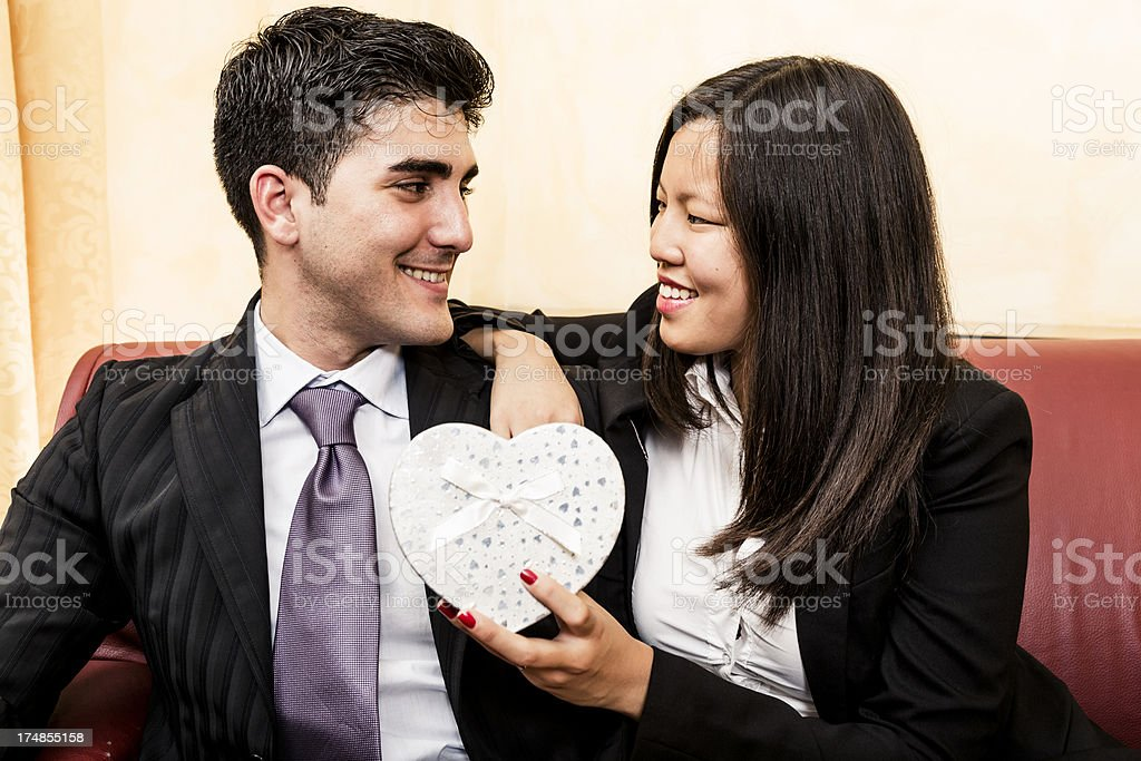 Gift for Valentine's day royalty-free stock photo