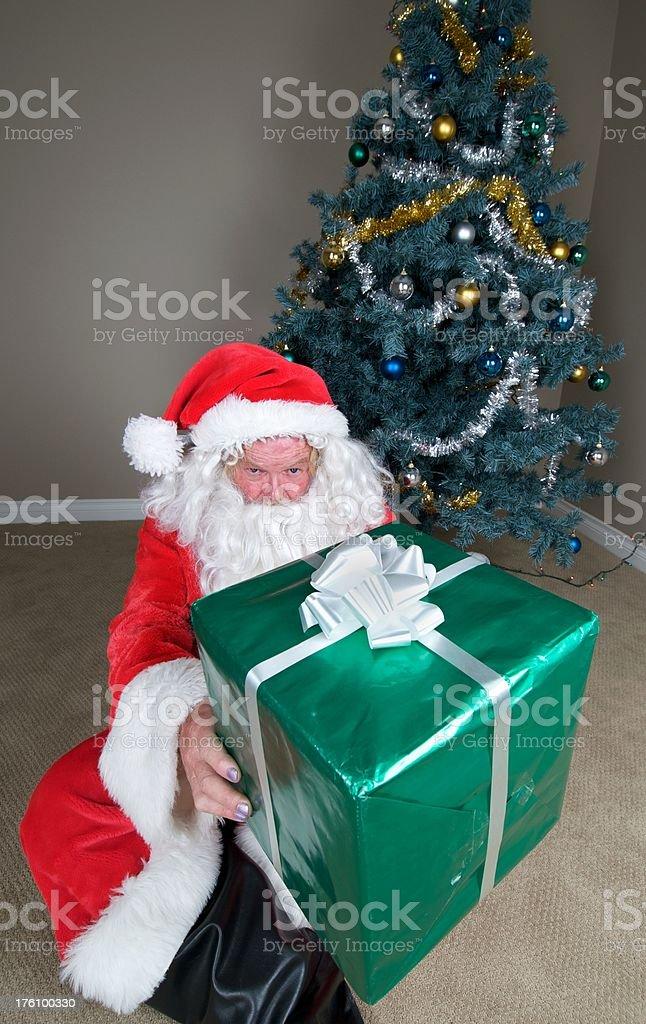Gift from Bad Santa stock photo