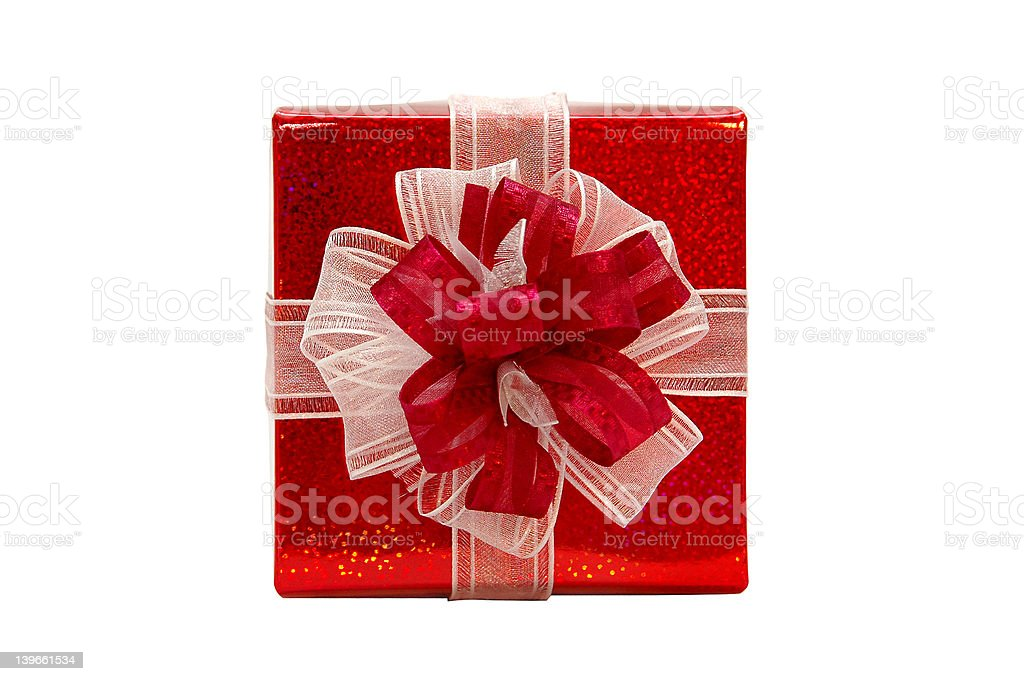 Gift - from top view royalty-free stock photo