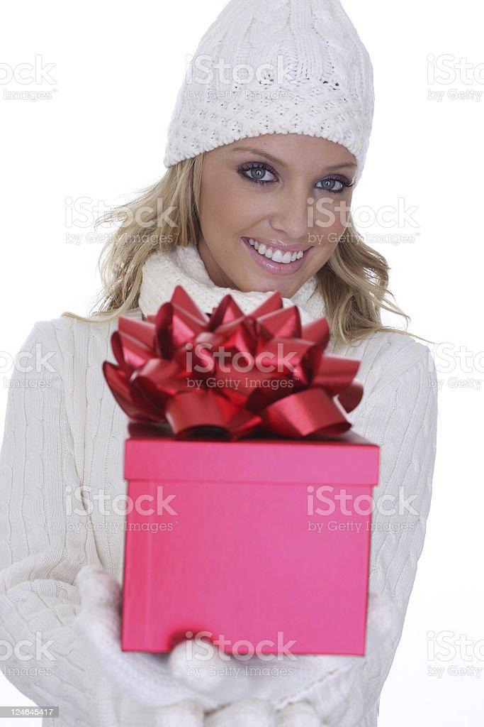 gift giving stock photo