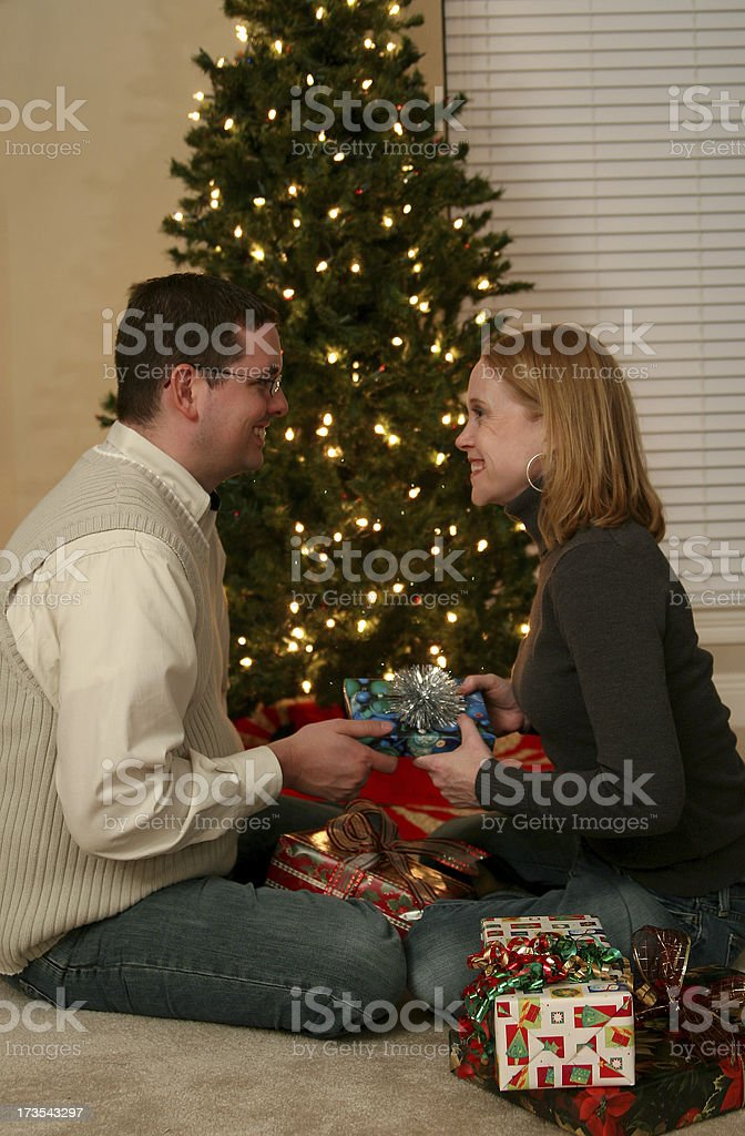 Gift giving. royalty-free stock photo