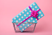 gift in a shopping basket