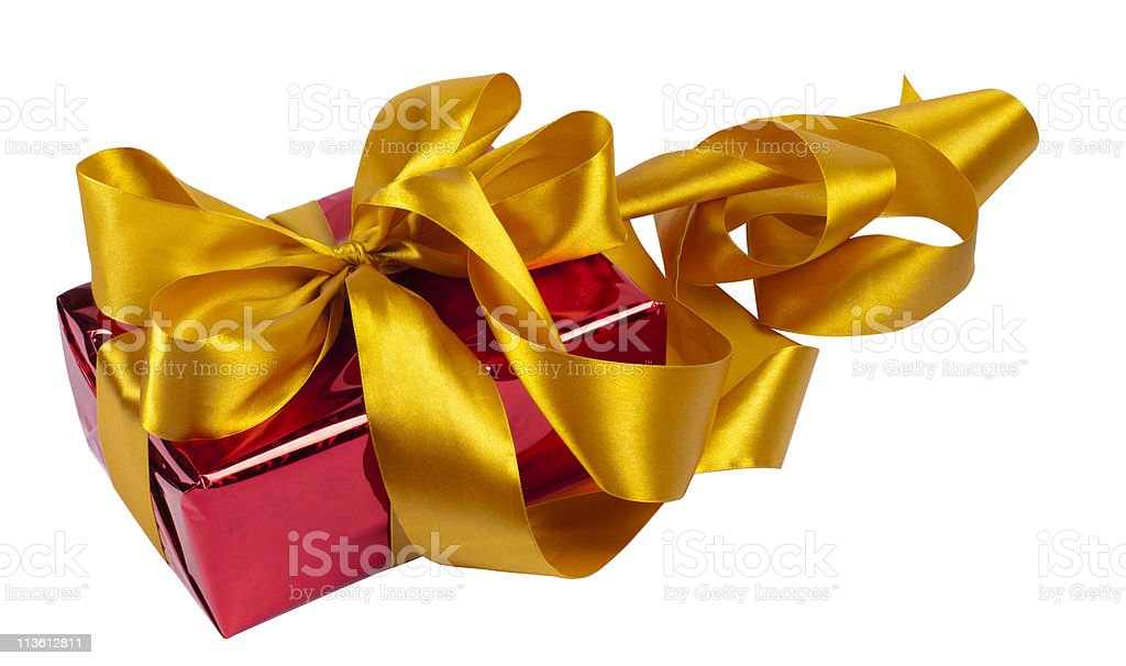 gift is in the red packing royalty-free stock photo