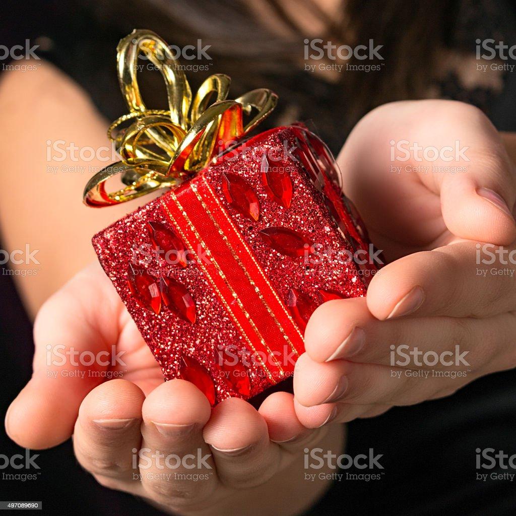 gift of christmas stock photo