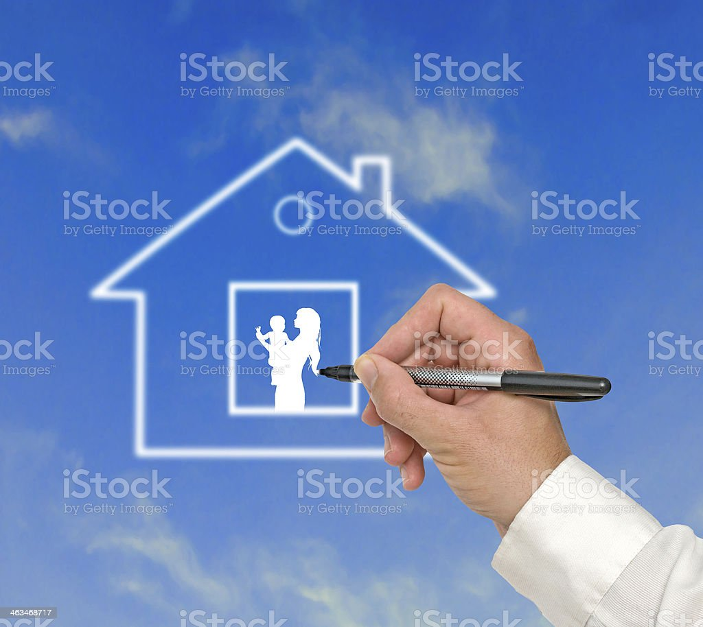 Gift of house stock photo