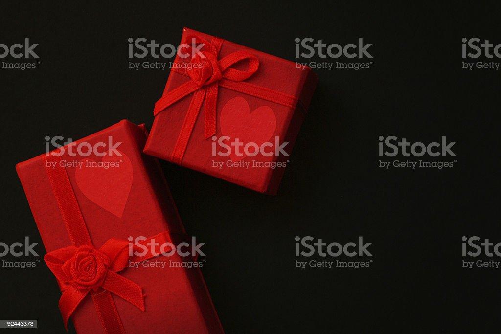 Gift of love stock photo