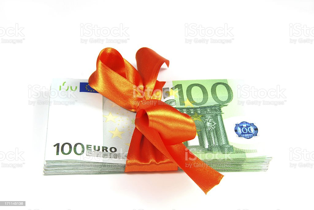 Gift of money royalty-free stock photo