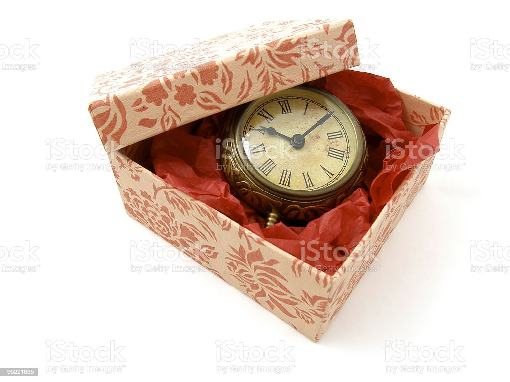 Gift of time stock photo