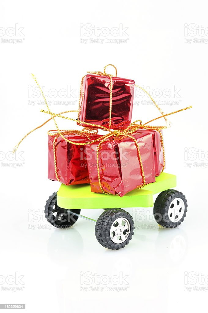 Gift on wheels royalty-free stock photo