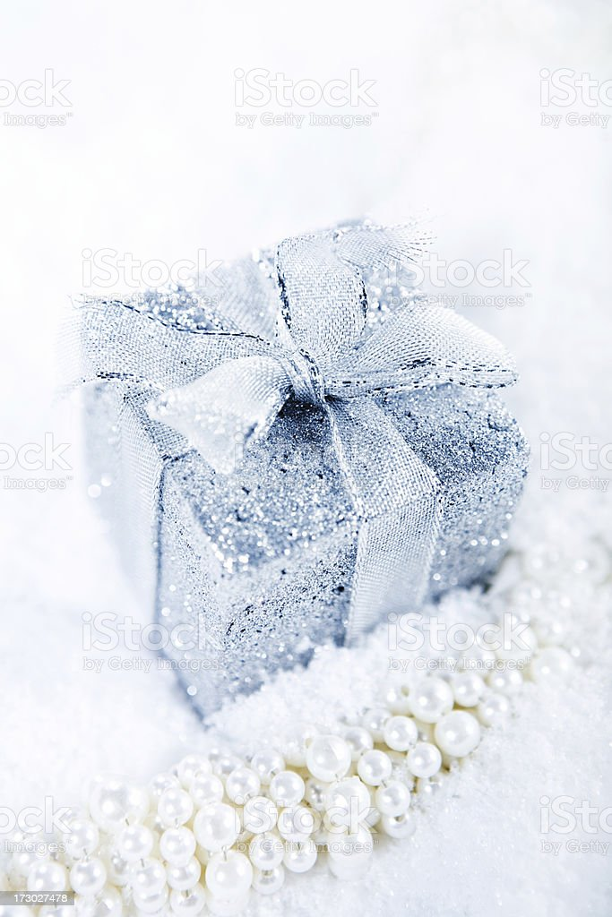 gift on white royalty-free stock photo