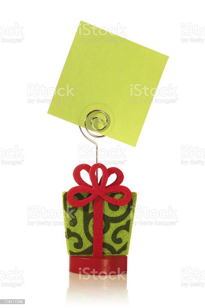Gift Package - Message royalty-free stock photo