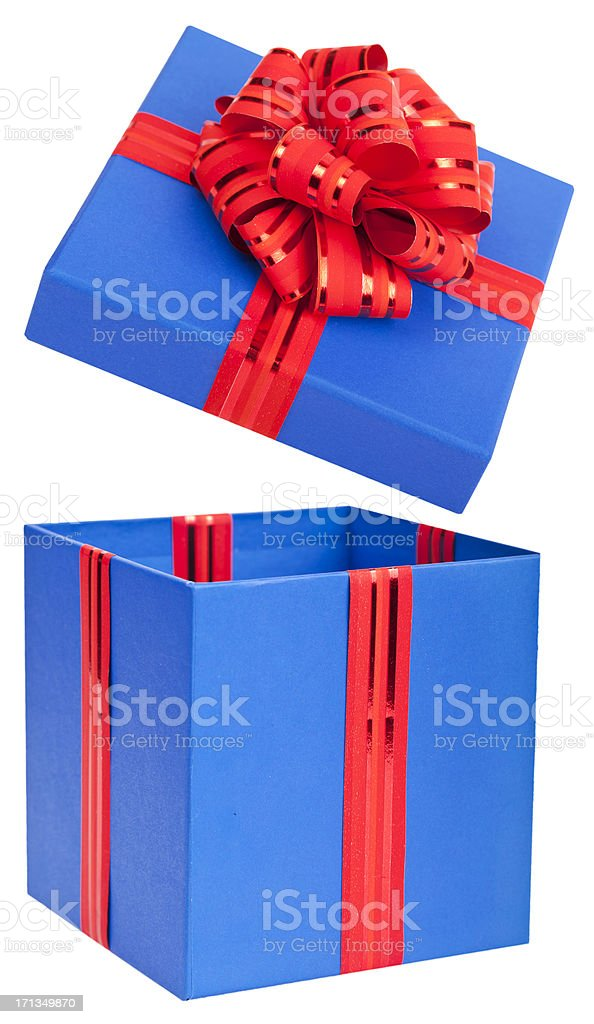 Gift Popping Open royalty-free stock photo