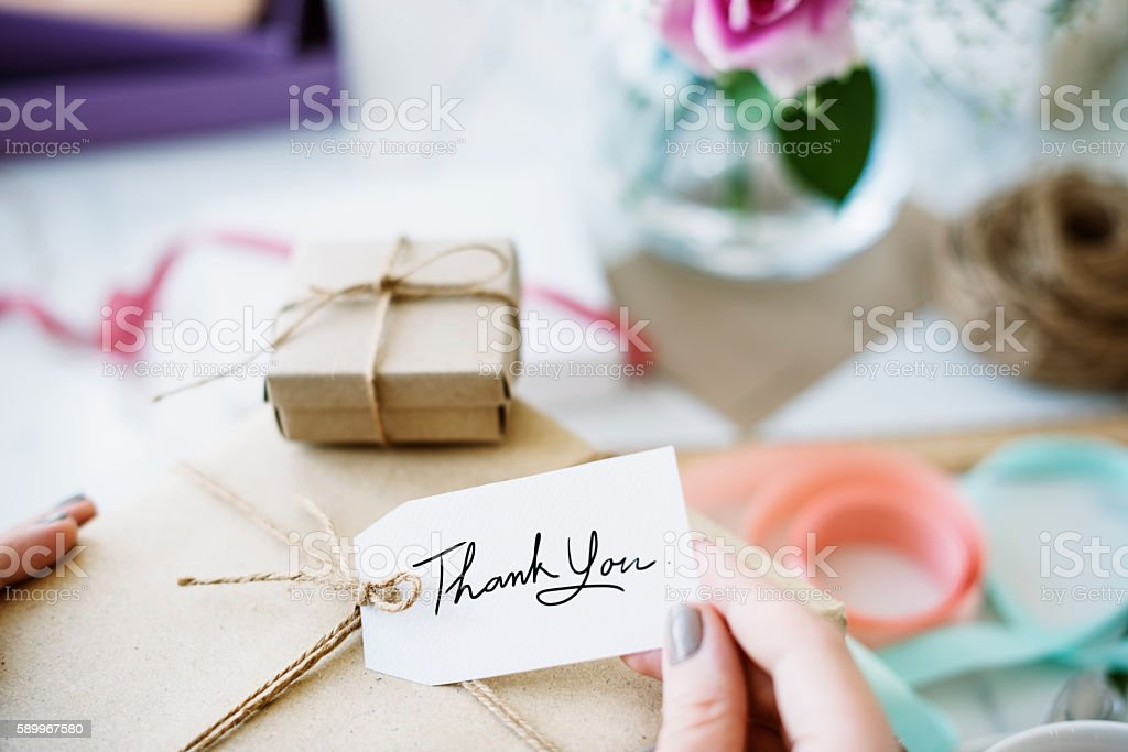 Gift Present Box Greeting Celebration Concept stock photo