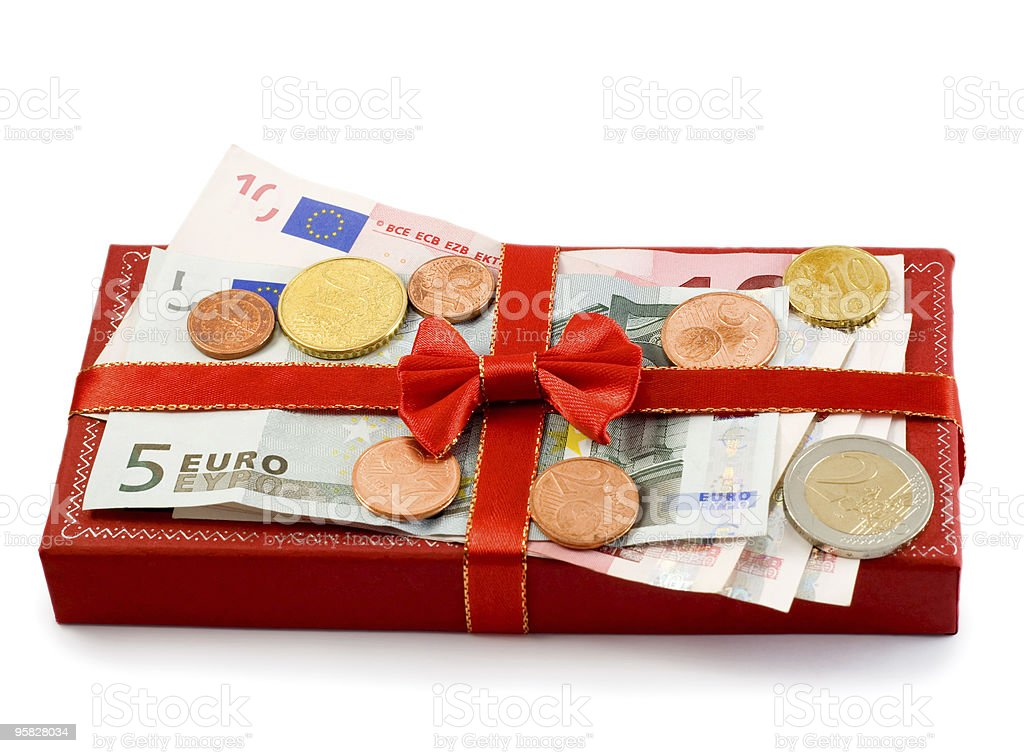 Gift red box royalty-free stock photo