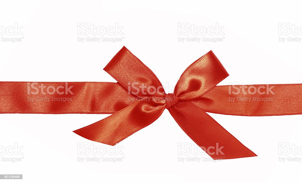 Gift red ribbon and bow royalty-free stock photo