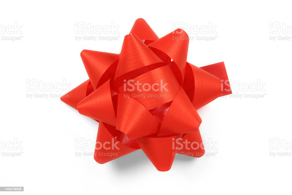gift red rosette royalty-free stock photo