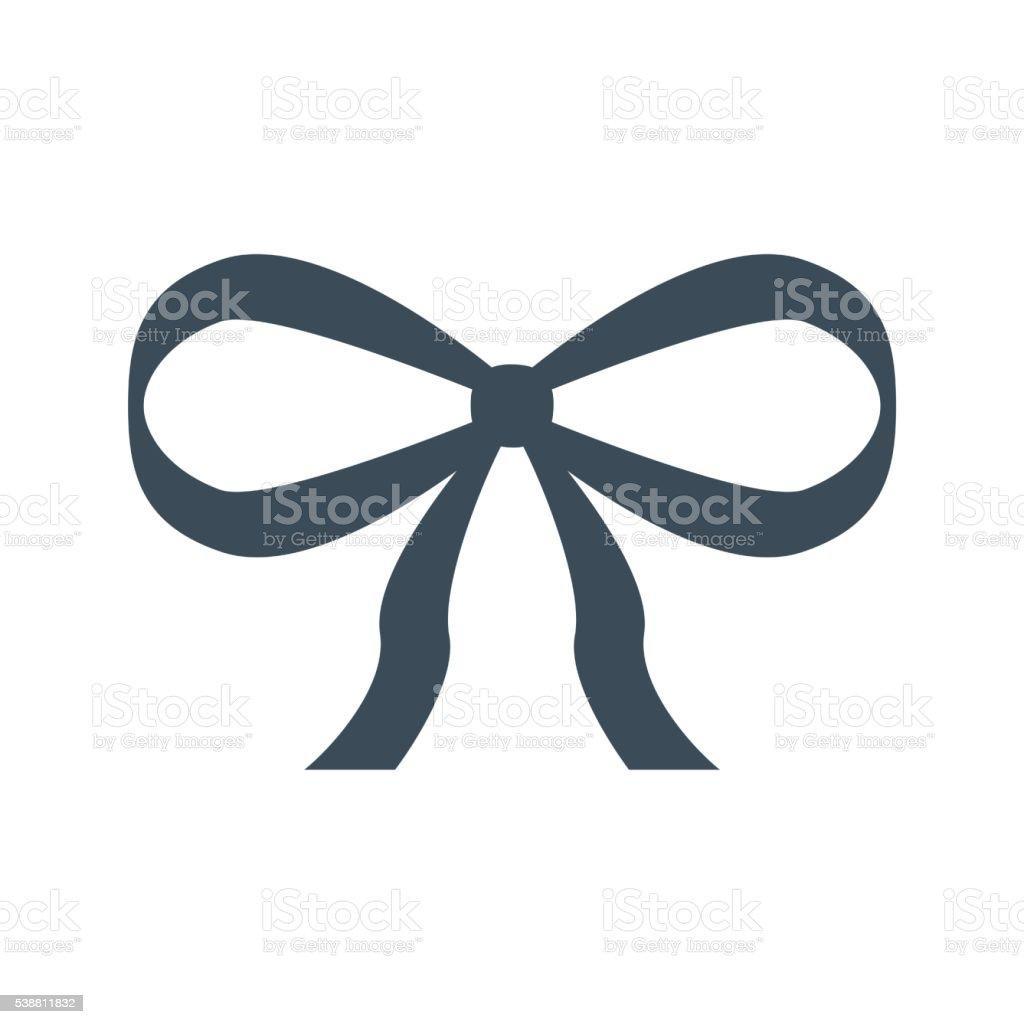 gift ribbon icon isolated on white background stock photo