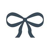 gift ribbon icon isolated on white background