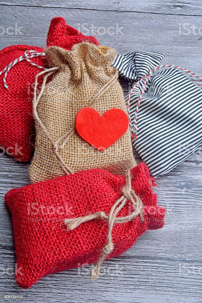 gift sacks stock photo