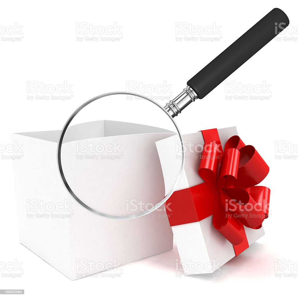 Gift Search royalty-free stock photo