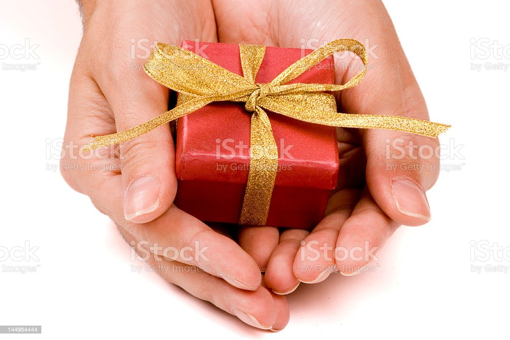 Gift Serving royalty-free stock photo