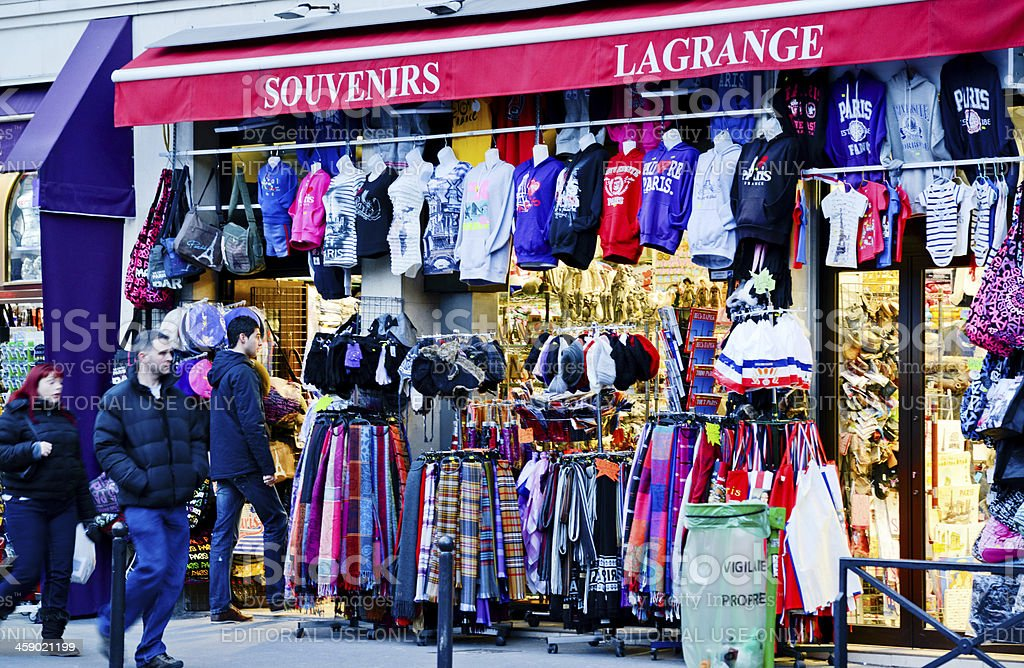 Gift Shop in Paris royalty-free stock photo