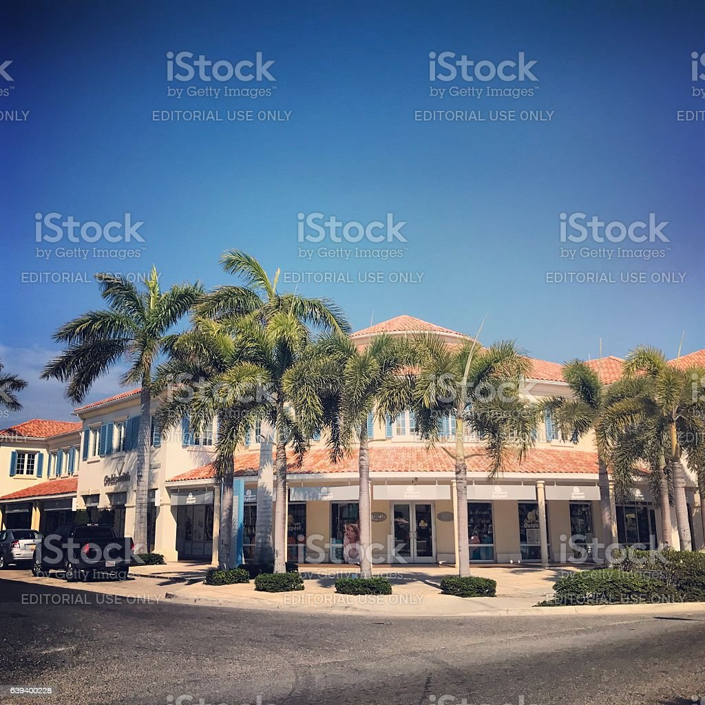 Gift shop in Providenciales. Turks and Caicos islands. stock photo