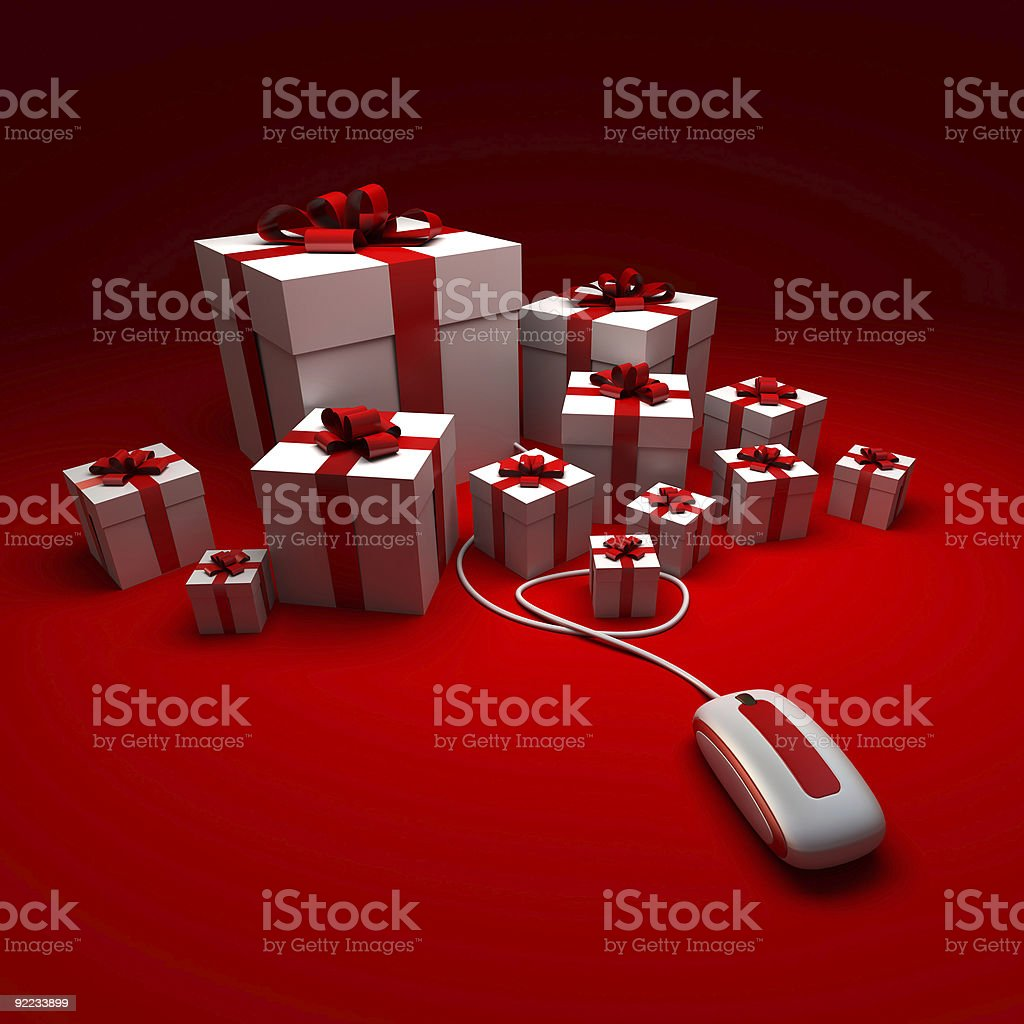 Gift Shopping royalty-free stock photo