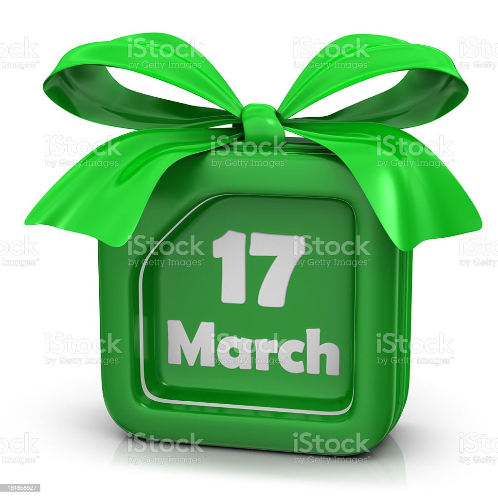 Gift - ' St. Patrick's Day' royalty-free stock photo