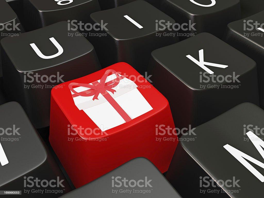 Gift Symbols On Keyboard Keys Stock Photo 169990053 Istock