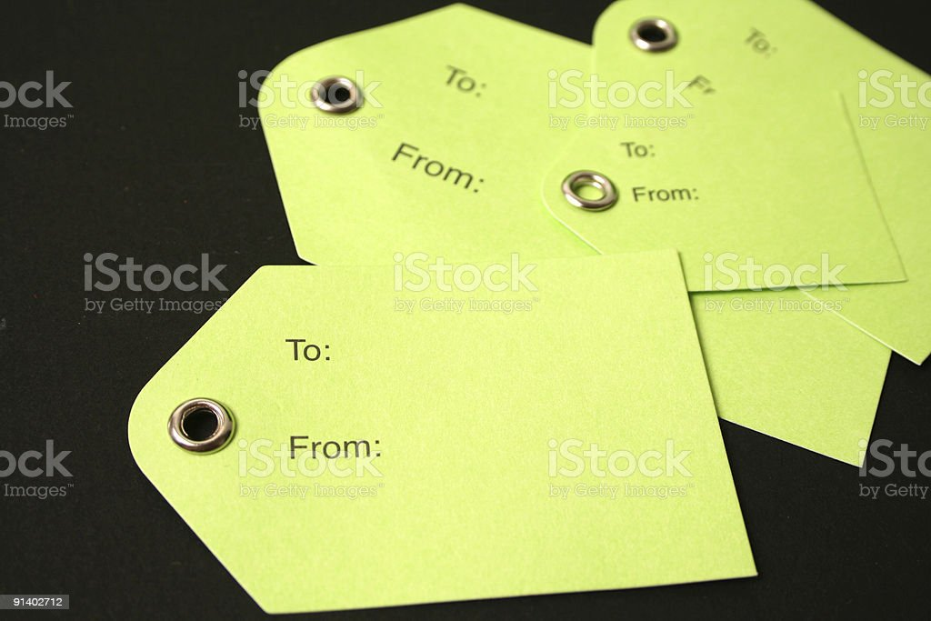 Gift Tags royalty-free stock photo