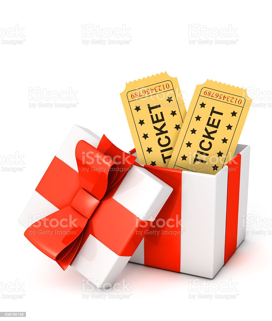 Gift tickets stock photo