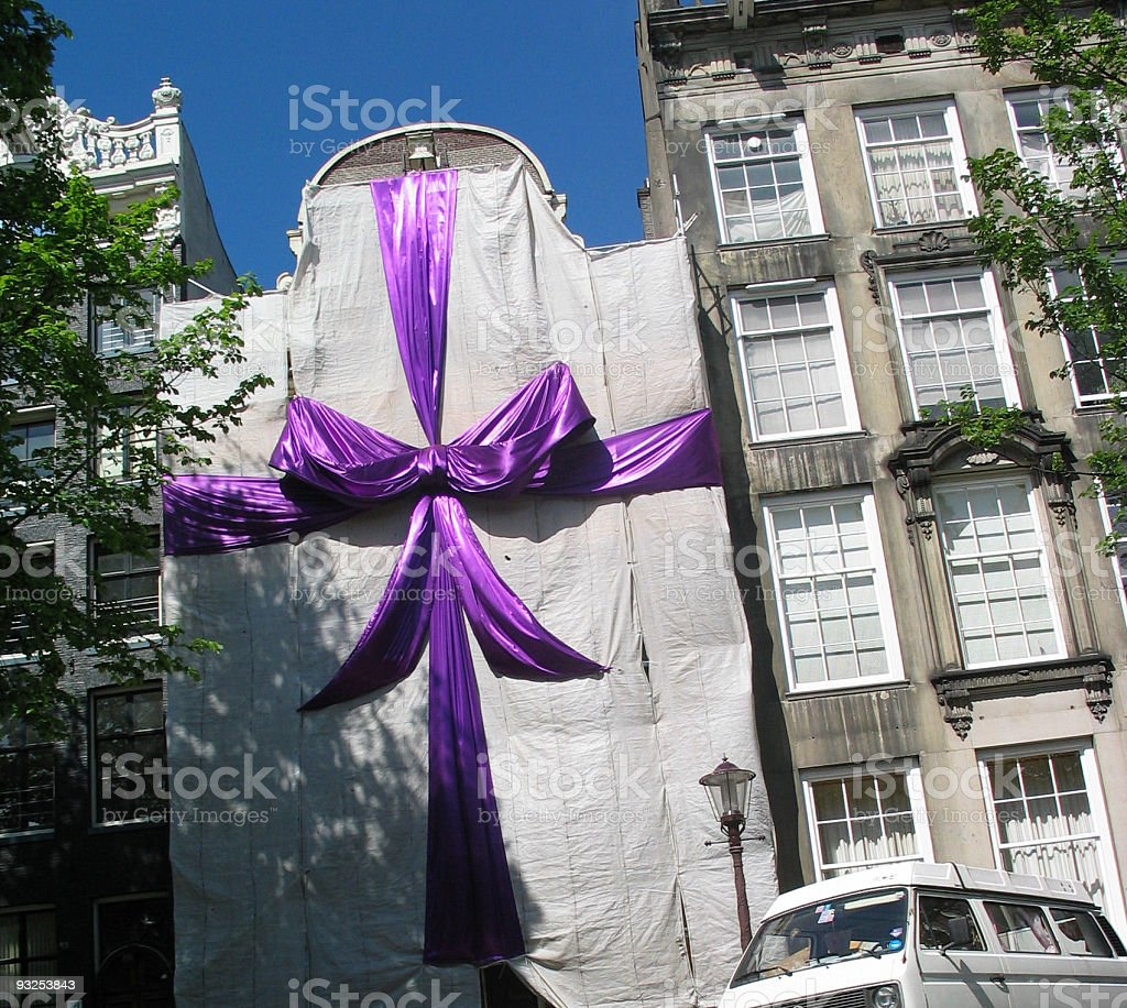 Gift Wrapped House stock photo