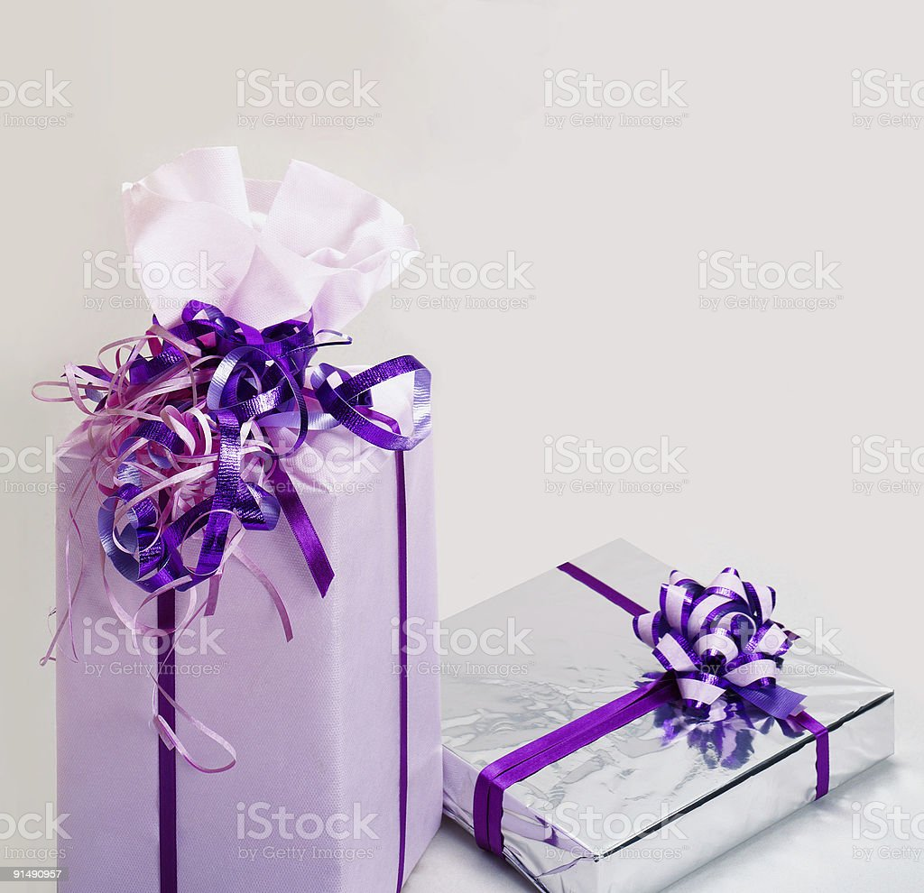 gift  wrapped royalty-free stock photo