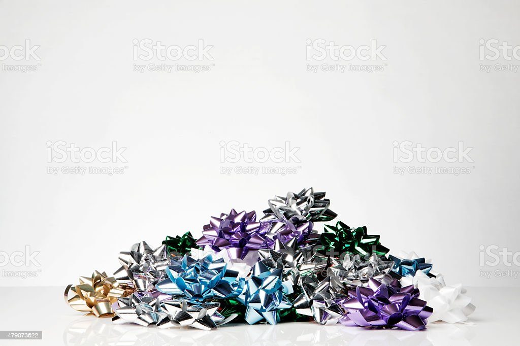 gift wrapping bow stock photo