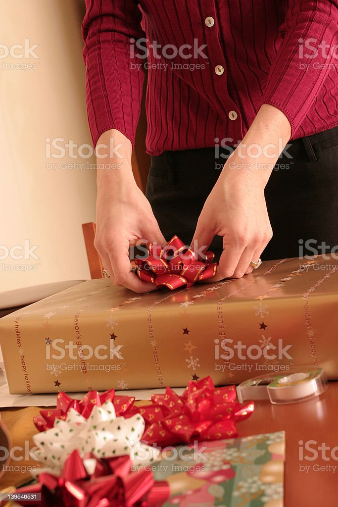 Gift Wrapping royalty-free stock photo