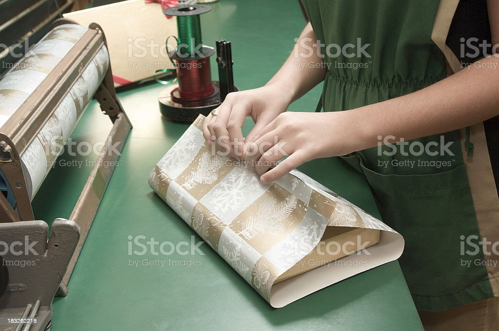 gift wrapping-retail royalty-free stock photo