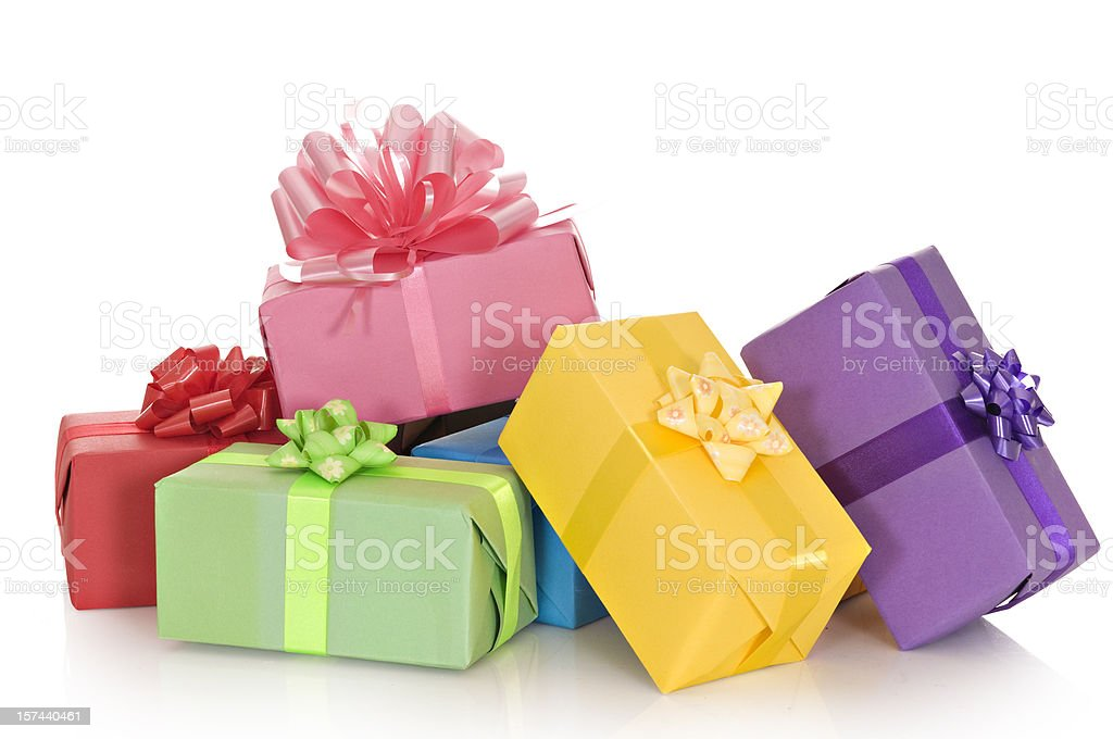 Giftboxes in a pile royalty-free stock photo