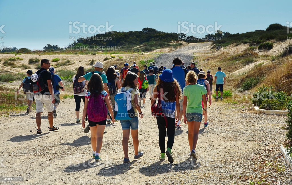 Gifted kids on a field trip stock photo