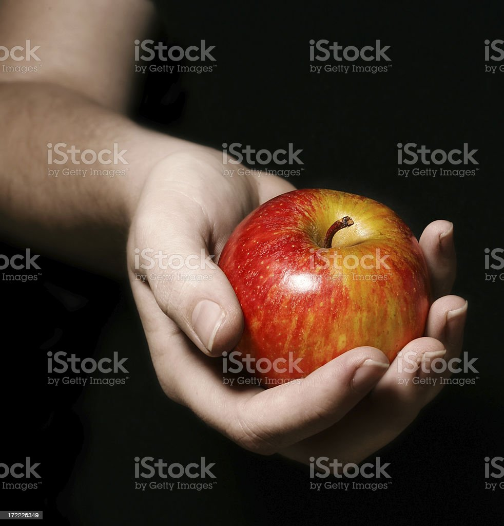 Gifting with an Apple stock photo