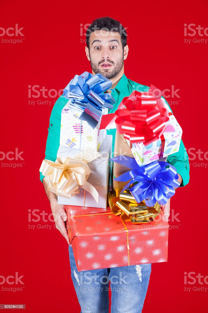 Gifts everywhere stock photo