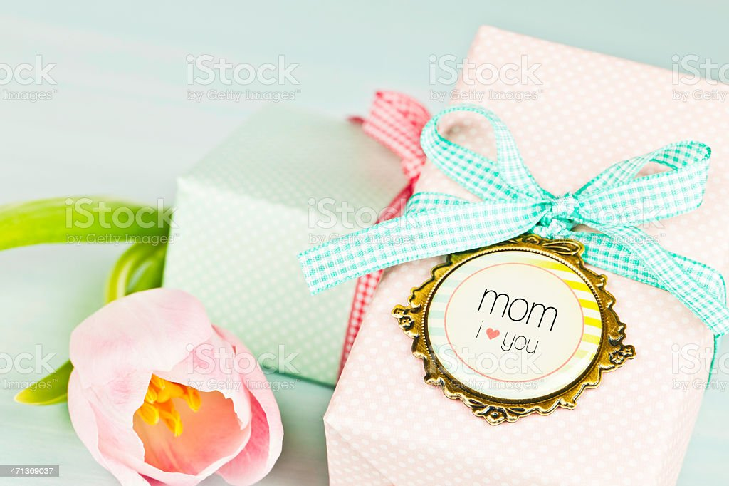 Gifts for Birthday or Mother's Day royalty-free stock photo