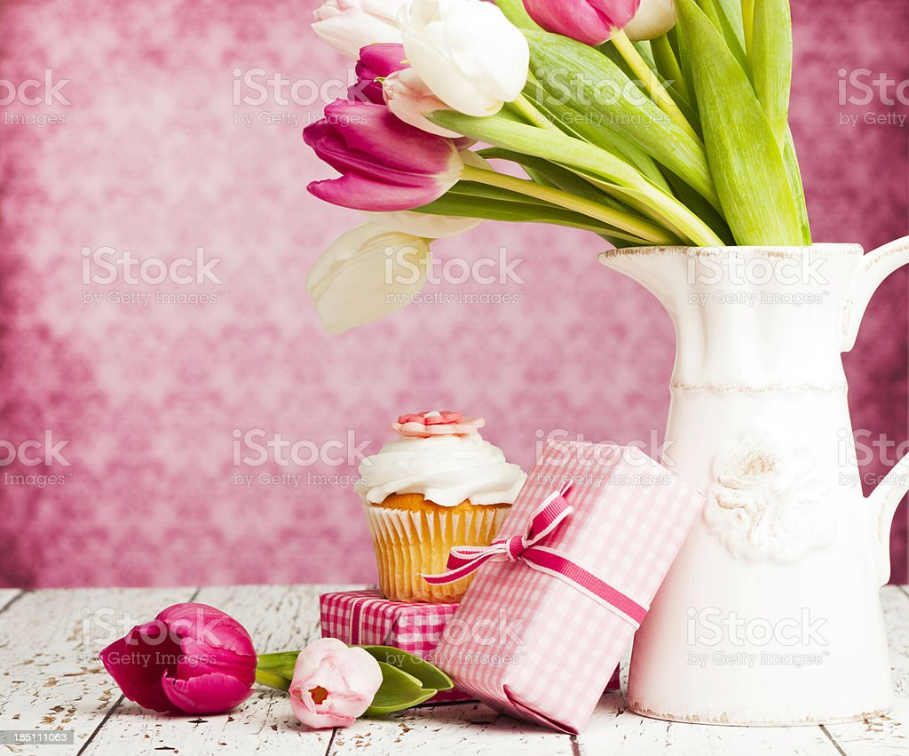Gifts for Mother's Day or Birthday royalty-free stock photo
