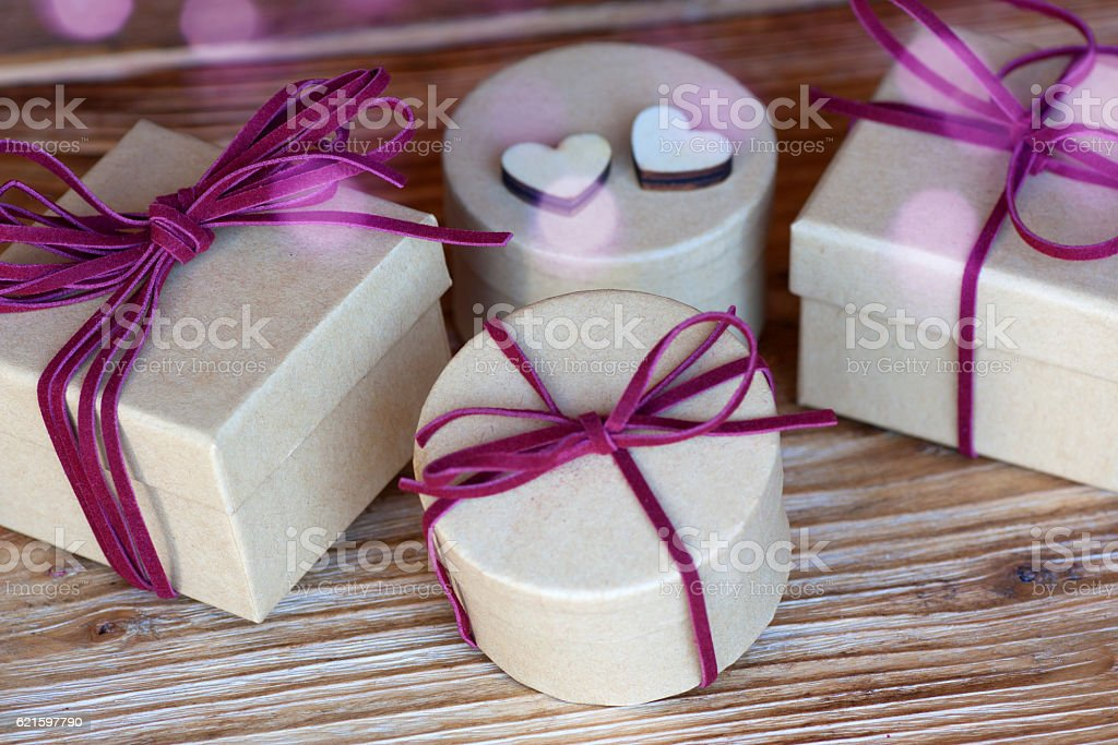 Gifts for special holidays stock photo