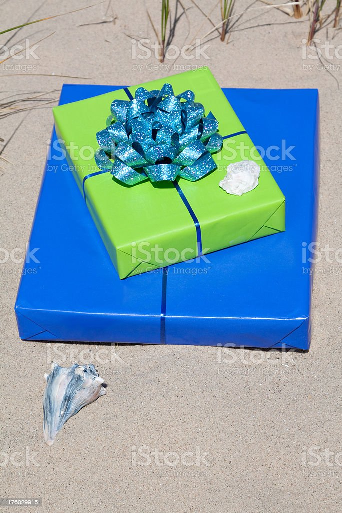 Gifts on Beach royalty-free stock photo