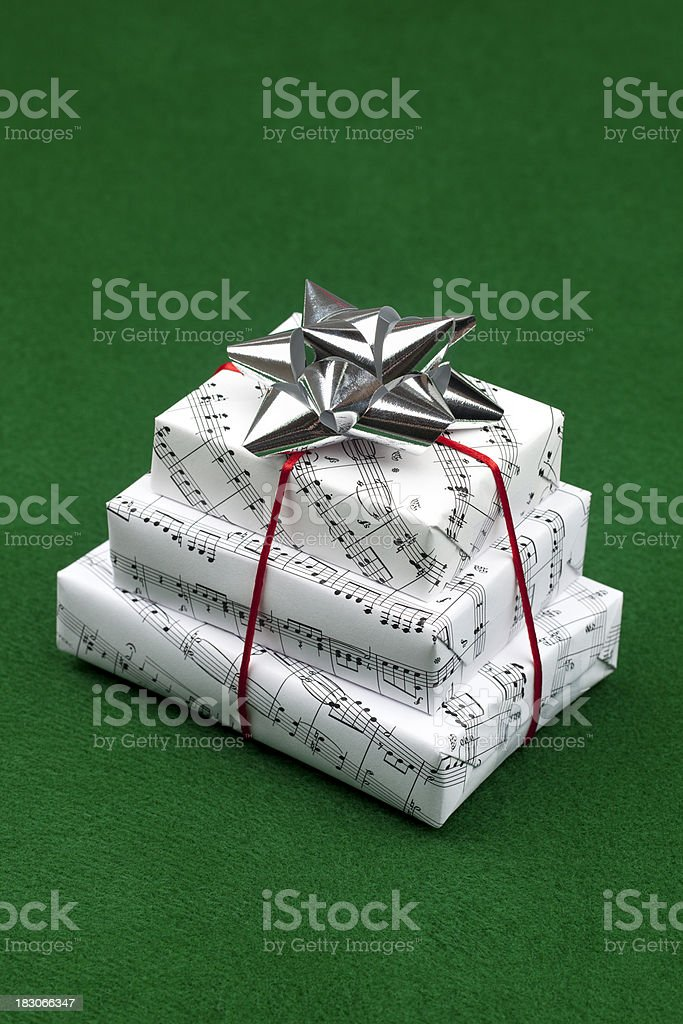 Gifts on Green royalty-free stock photo