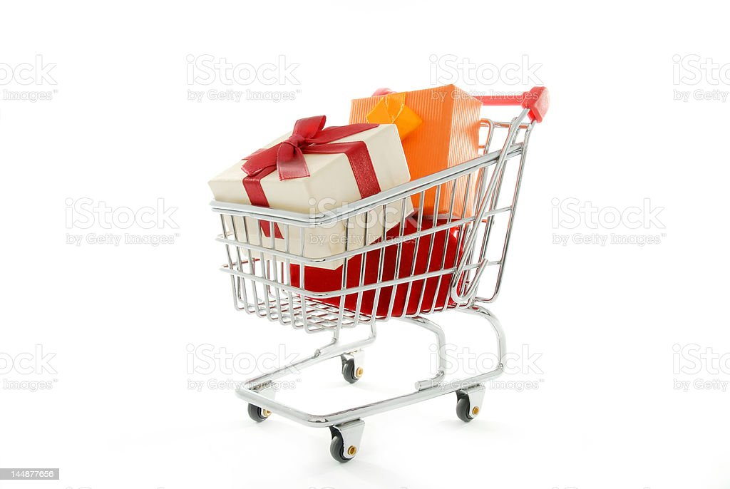 Gifts shopping royalty-free stock photo