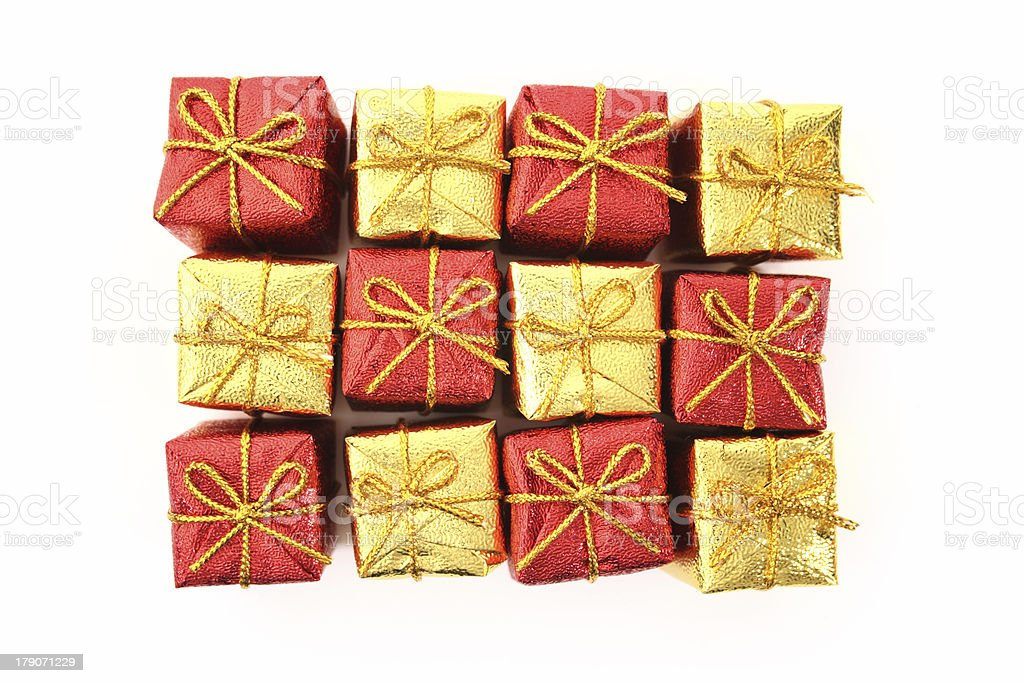 Gifts top view royalty-free stock photo