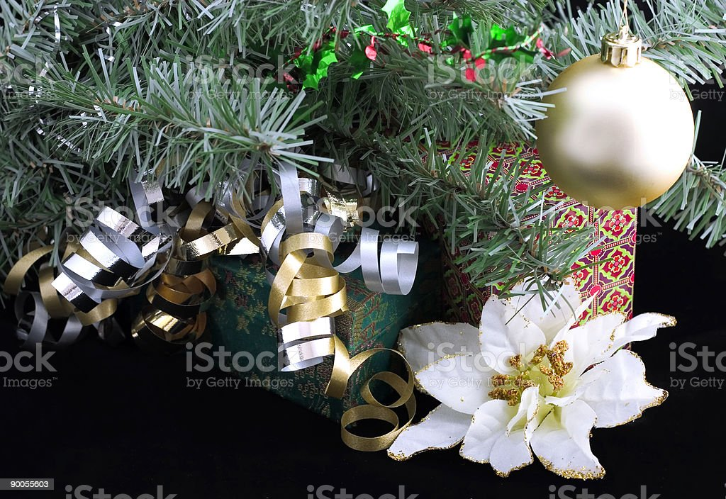 gifts under christmas tree royalty-free stock photo